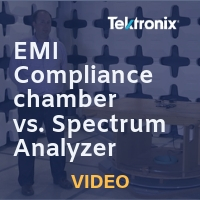Tektronix: Full EMI Compliance Chamber vs. Tektronix Spectrum Analyzer