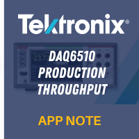 Tektronix: DAQ6510 Production Throughput