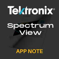 Tektronix: Spectrum View: A New Approach to Frequency Domain Analysis on Oscilloscopes