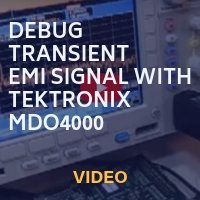Tektronix: Debug Transient EMI Signal with a Mixed Domain Oscilloscope MDO4000